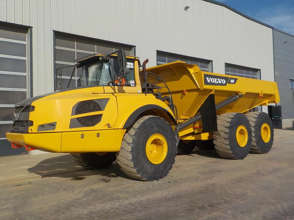 A 2012 Volvo A40F is one of 67 articulated dump trucks on sale