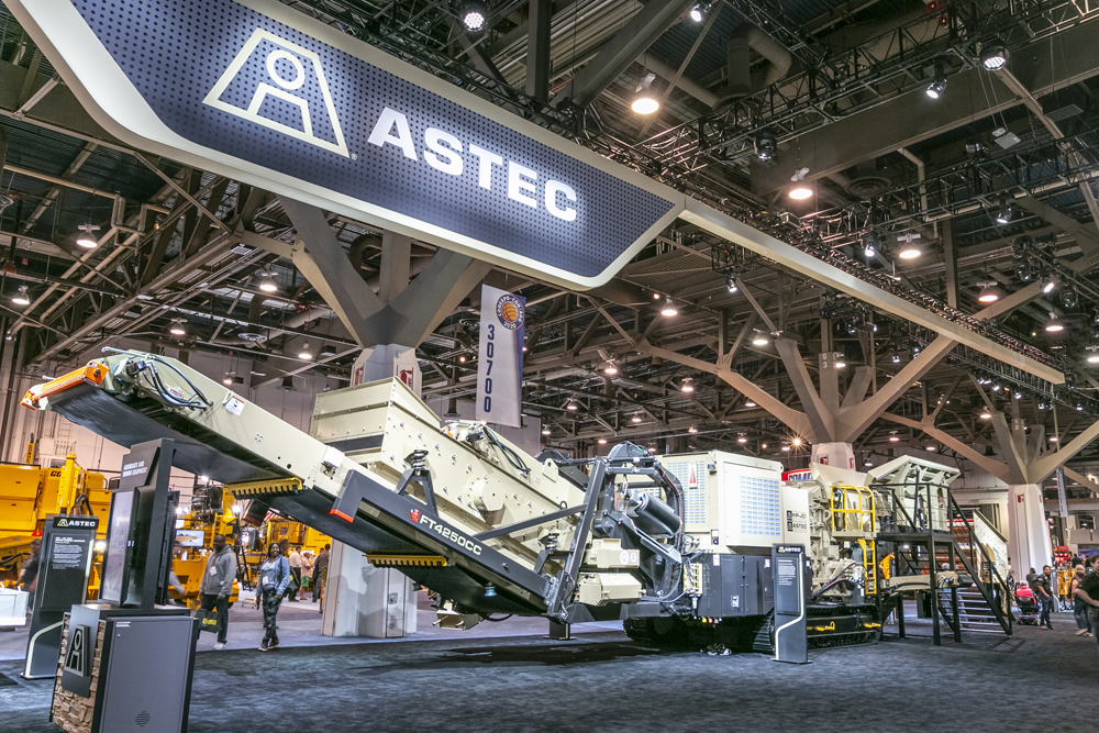 KPI's hybrid FT4250CC horizontal shaft impactor on show at CONEXPO-CON/AGG 2020