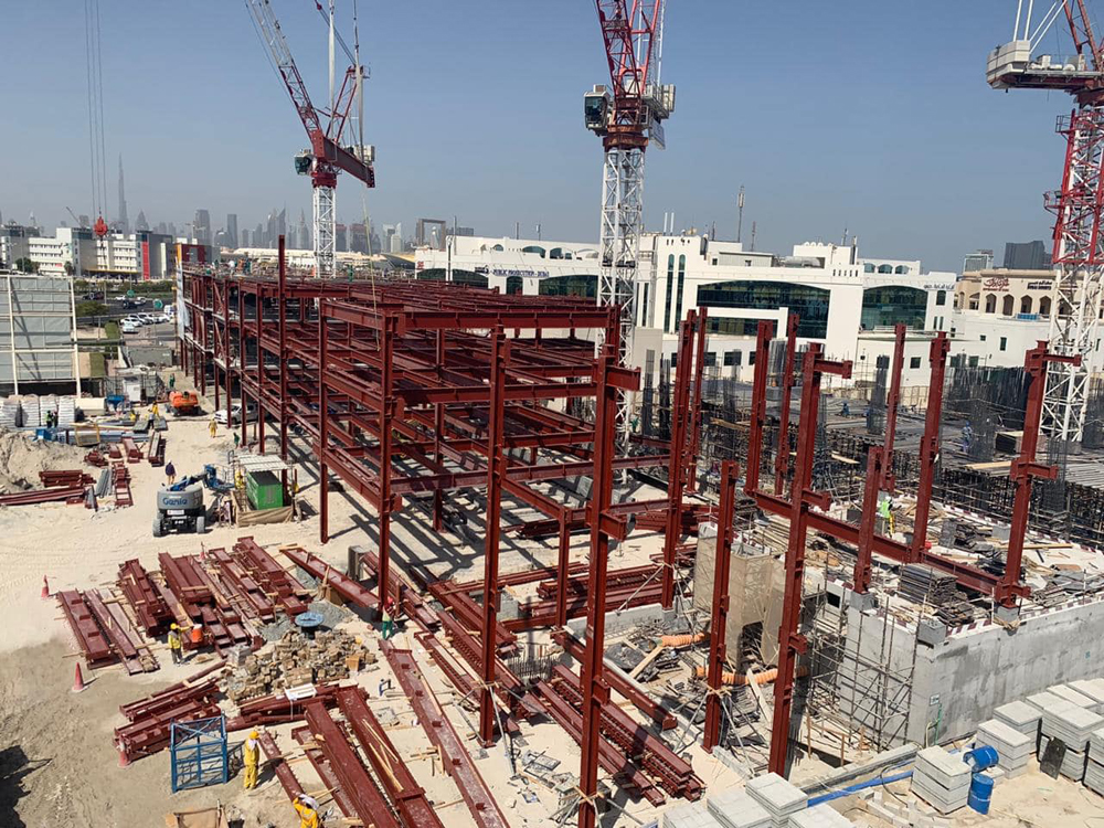 The Dubai Prosecution Office is under construction and is expected to be completed by December 2021 Pic courtesy: Emirates Building Systems