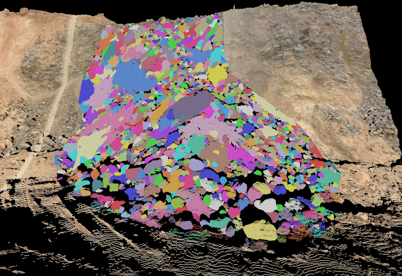 The new tool enables rapid assessment of the condition of blasted rock