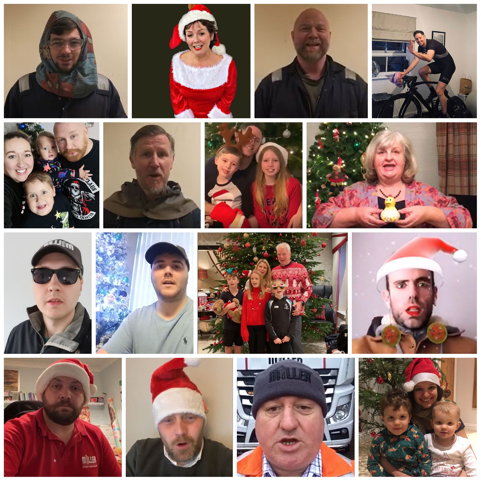 Miller UK employees staged a virtual 12 days of Christmas charity event in December