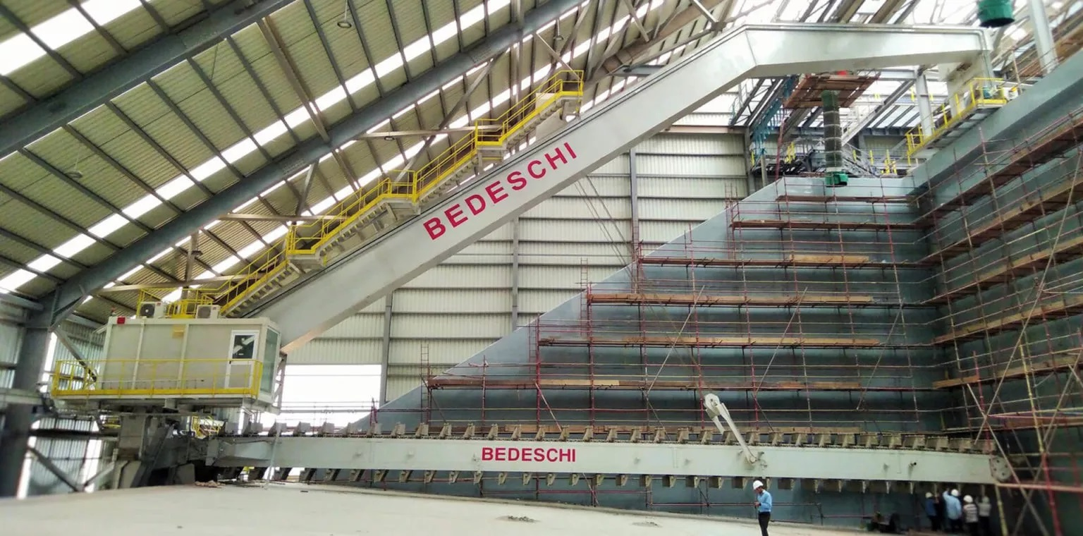 Bedeschi will install two new semi portal reclaimers for limestone at the plant