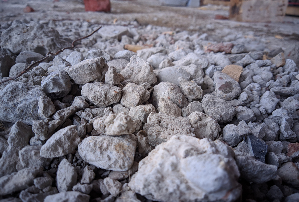 Coarse aggregates covered with cement and dust. Pic- Arvind Verma ID 144899517 Dreamstimee.com