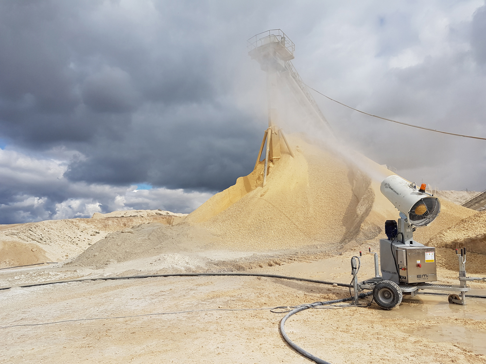 'Misting' developments are now playing a major role in controlling dust in quarries