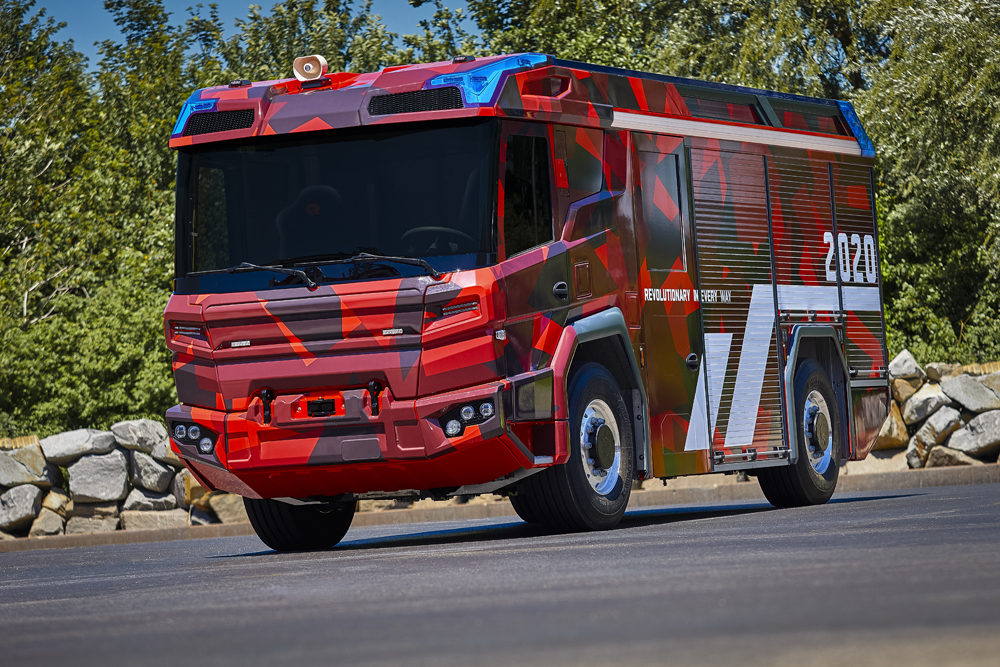 Volvo Penta has developed an electric driveline for Rosenbauer's revolutionary fire truck