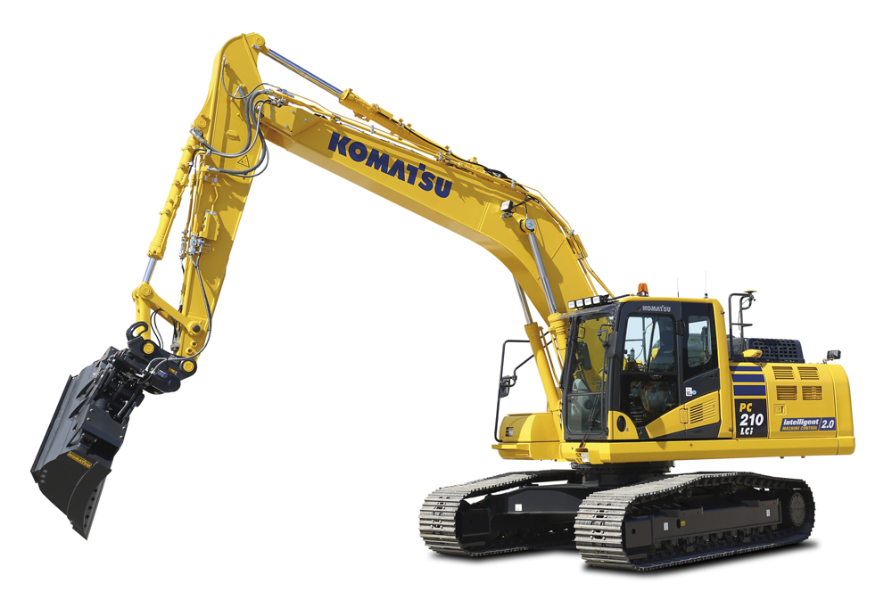 The PC210LCi-11 is one of three Komatsu excavators being launched in Europe