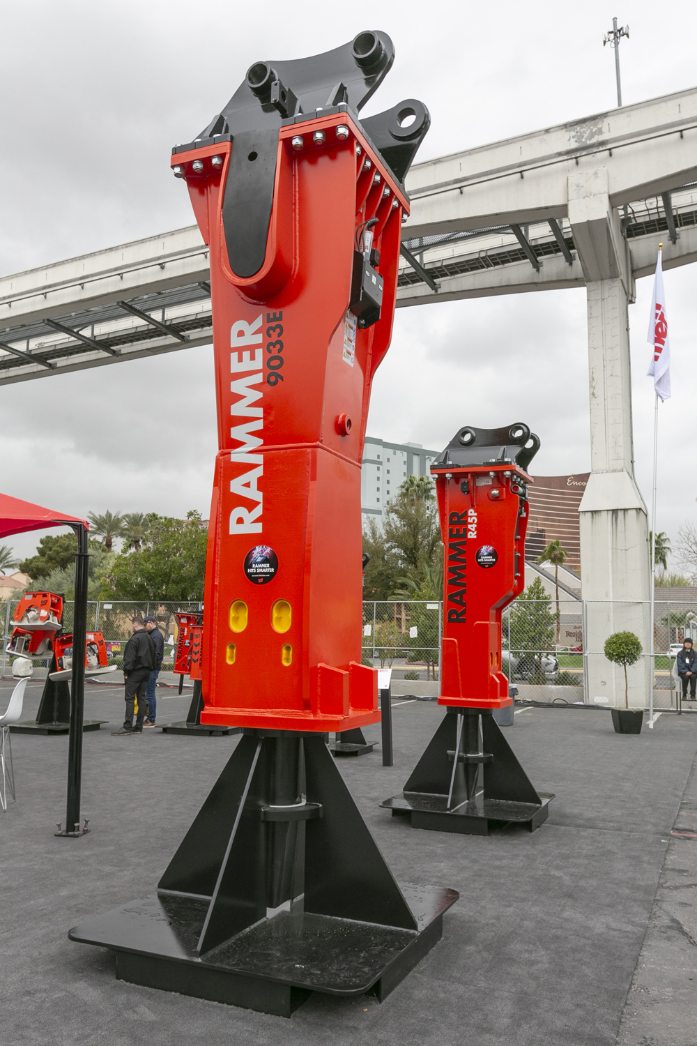 Rammer's new 9033E hammer was showcased at the CONEXPO-CON/AGG 2020 exhibition