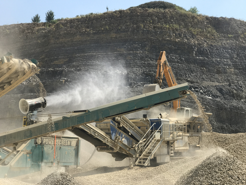 Mitigating the effects of dust from crushing aggregates