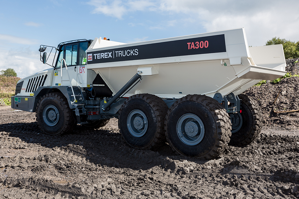 New Scania Stage V emissions-compliant engines for European customers will be introduced on Terex Trucks' 28-tonne TA300 (pictured) and 38-tonne TA400 articulated haulers in mid-2020