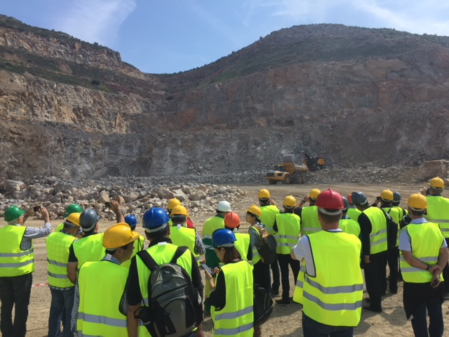 A quarry site visit during the UEPG General Assembly in Barcelona, Spain, in 2018