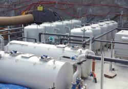 F&B's portable steel wastewater plant