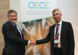 Niklas Nillroth (right) succeeds Enrico Prandini as president of CECE. Source: CECE