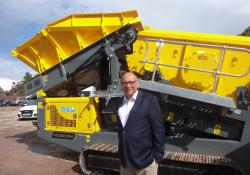 RM Group founder Gerald Hanisch at the Dungannon site in Northern Ireland
