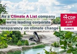 HeidelbergCement was one of 179 companies out of 8,000 that received the top A rating for its commitment to climate action