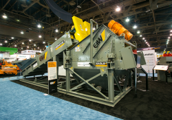 EIW's new Eagle dewatering screen at this week's ConExpo show in Las Vegas