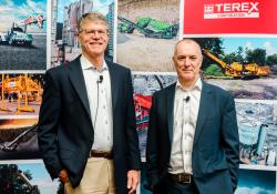 Terex chairman and CEO John Garrison (left) and Terex Materials Processing president Kieran Hegarty