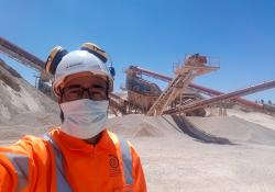 Mohamed Belkoudry at Ciments du Maroc's Oued Souss quarry