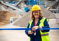 Derbyshire Dales MP Sarah Dines officially opens the new washing plant