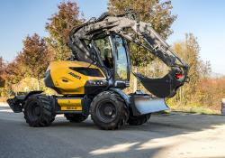 The Mecalec 9MWR wheeled excavator