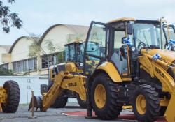 Products on show included wheeled loaders, compactors, backhoe loaders and motor graders
