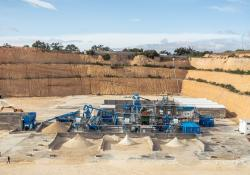 SOMEVAM commissioned its first CDE solution at the Oueslatia quarry in 2019