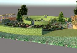 The new garden is intended to increase the wellbeing of veterans and injured military personnel