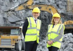 ICF chief executive officer Gerry Farrell and HSA chief executive officer and Dr Sharon McGuinness