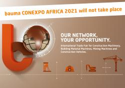 No new date has yet been given for when the bauma Conexpo Africa will take place
