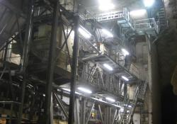 The primary crushing plant, housed in a specially-built cavern