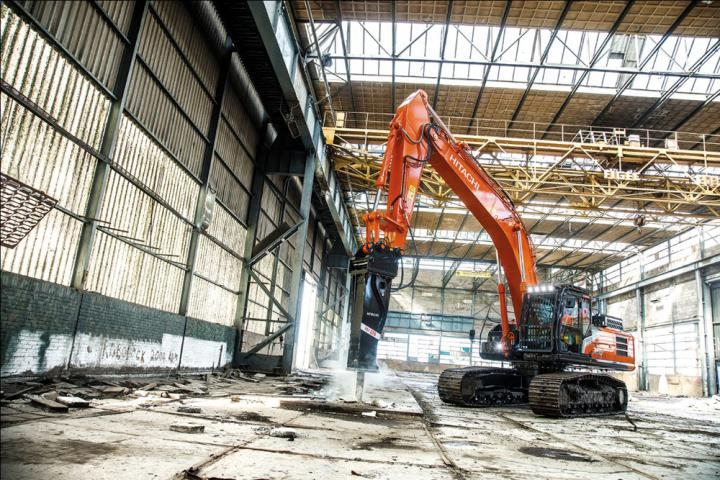 The hydraulic breaker range is designed for Hitachi ZX excavators