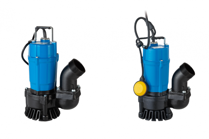 Tsurumi's new HS3.75SL (left) and HSZ3.75SL submersible, trash pump models