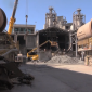 Material from the old furnaces is being used to produce new cement
