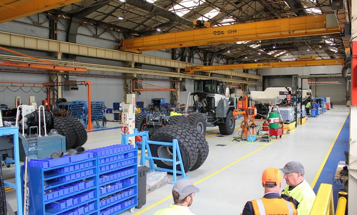 Extensive improvements have been made to Terex Trucks' Motherwell HQ since the company was acquired by Volvo Construction Equipment in 2014