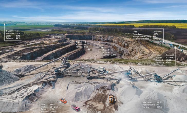 Trimble technology is helping to create the connected quarry